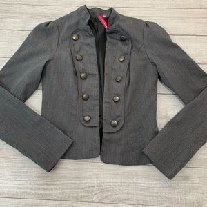 Heart Soul Womens Size Medium Gray Blazer Jacket